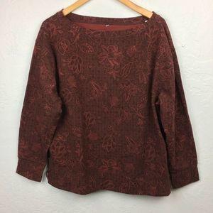 PrAna Blouse Long Sleeve Organic Cotton Hemp XL